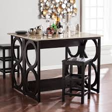 radia faux marble counter height console dining table southern