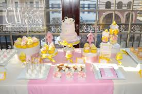yellow baby shower ideas pink and yellow baby shower cw distinctive designs