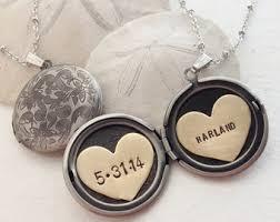 custom engraved lockets engraved date locket etsy