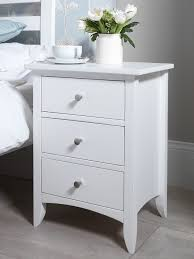 Edward Hopper White Bedside Table Bedroom Furniture Direct