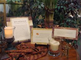 your thanksgiving prayer station prayer path ideas