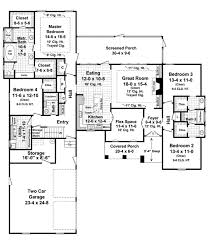 European Home Floor Plans 11 2500 Sq Ft One Level 4 Bedroom House Plans Square Feet Home
