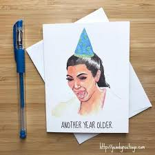 Meme Birthday Card - kim kardashian crying face meme birthday card free shipping