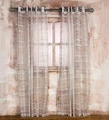 Sheer Door Curtains Buy White Polycotton Sassari Sheer Door Curtain By Rosara Online