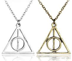 harry potter pendant necklace images Wholesale dhl 2017 harry potter and the deathly hallows triangle jpg