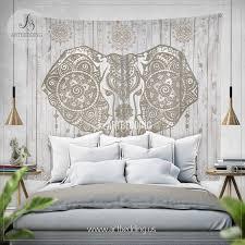Bedroom Wall Tapestries Boho Elephant Wall Tapestry Ethno Ganesh Elephant Wall Hanging
