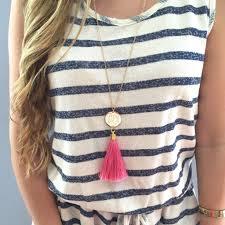 tassel necklace images Monogram silk tassel necklace i love jewelry jpg