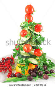 vegetable christmas tree stock images royalty free images