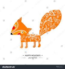 glass mr fox ornament features happy holidays glak fox