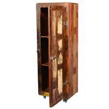 Reclaimed Wood Storage Cabinet Retro Rustic Reclaimed Wood 67
