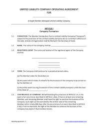 llc operating agreement template vnzgames