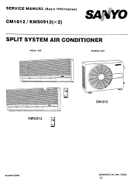 sanyo air conditioners cm1812 kms0912 pdf user u0027s manual free