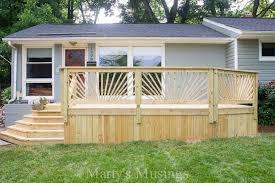 How To Make Handrails For Decks How To Build A Railing Sunburst Deck Railing Deck Guardrail Or