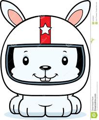 cartoon smiling race car driver bunny stock vector image 55235991