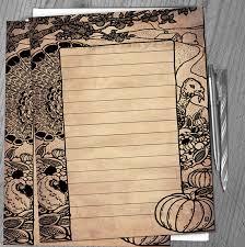 printable writing paper vintage thanksgiving border