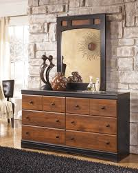 Bedroom Dresser With Mirror by Ashley B455 Rayville Dresser With Mirror