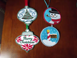 christmas tree ornaments set of 4 frosty snowman ornament north