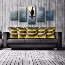 movie home decor 5 panels modern home decor assassins creed movie pictures wall art