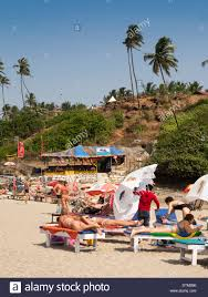 russian beaches india goa big vagator beach russian women tourists on