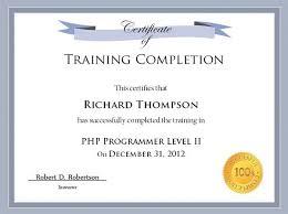 training certificate template word training certificate template