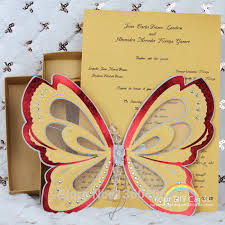 Scroll Wedding Cards Design With Price Laser Cutting Scroll Wedding Invitation Card 3d Butterfly Theme