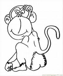 monkey printables hanging monkey coloring free printable