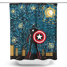 Graphic Shower Curtains by Starry Soldier Shower Curtain Once Upon A Tee