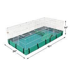 amazon com guinea habitat plus guinea pig cage by midwest w top
