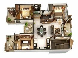floor plans with photos insight of 3 bedroom 3d floor plans in your house or apartment design