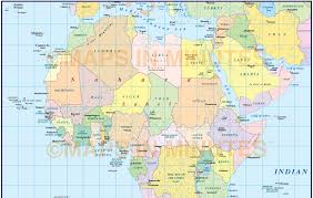 World Continents And Countries Map by Digital Vector Africa Simple Region Country Map 10 000 000 Scale