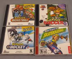 backyard sports cd rom lot of 4 pc video games soccer hockey