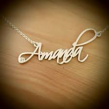The Name Necklace Amanda Style Name Necklace Silver Name Necklace Order Any