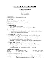 Sample Functional Resume by Functional Resume Template For It Softballconcentrate Gq