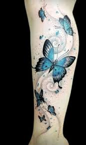 collection of 25 colorful butterfly on leg