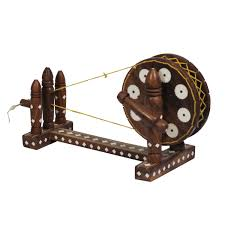 wholesale home decor 10 u201d indian spinning wheel miniature model