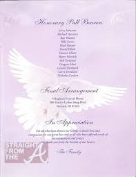 Pictures For Funeral Programs Funeral Program Whitney Houston Pinterest Funeral
