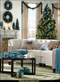 Decorating theme bedrooms  Maries Manor peacock color Christmas