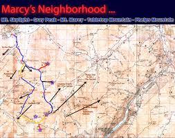 Adirondack Mountains Map Adirondack Series Mt Marcy Skylight Gray Ny Hiking And