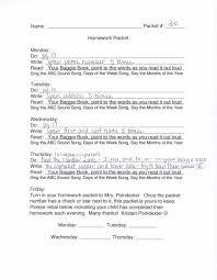 homework kristen u0027s kindergarten