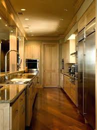 kitchen lighting remodel galley kitchen lighting inspiration for a contemporary galley
