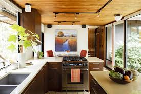 Kitchen Track Lighting Kitchen Dark With Laminate Also Wood And Flooring Besides Ideas
