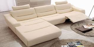 Cream Leather Chaise Leather Sectional Sleeper Sofa With Chaise Sofamoe Info