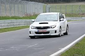 subaru cts v video 2011 subaru impreza wrx sti test car laps the nurburgring