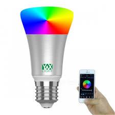 bluetooth music light bulb ywxlight e27 rgb smart bluetooth music led bulb light silver