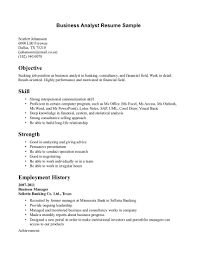 System Analyst Sample Resume Business Business Analyst Resume Template Word