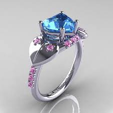 light blue rings images Items similar to classic hearts 14k white gold 2 0 ct blue topaz jpg