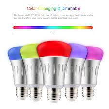 Led Night Light Bulb by Wi Fi Smart Led Light Bulb E27 Multicolored Colors Changing Sales