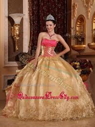 gold quince dresses gold and hot pink strapless embroidery 2013 quinceanera dress