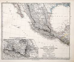 Mexico City Map by Map Of Mexico With Mexico City 1885