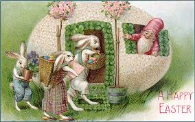 vintage easter baskets printable easter cards free greeting card image to print which